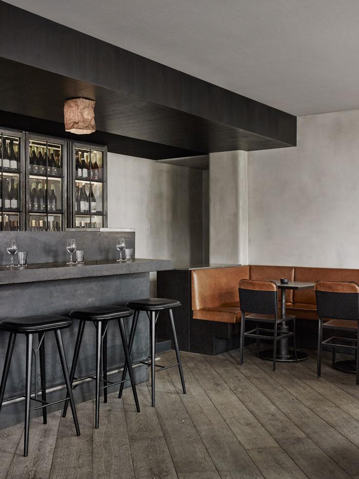 低调质感的 Musling Restaurant,海鲜餐厅设计,西餐厅设计,红酒吧设计,北欧工业风格设计,低调餐厅设计,低调质感餐厅设计,海鲜西餐厅设计,法式餐厅设计,工业风格餐厅设计,简约餐厅设计,北欧餐厅设计
