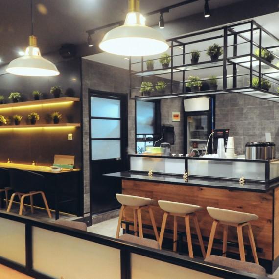 赏心小作,面馆,延安东路700号,上海面馆设计,上海餐饮设计,上海餐厅设计,上海面店设计,北欧风格面馆设计,星巴克风格设计