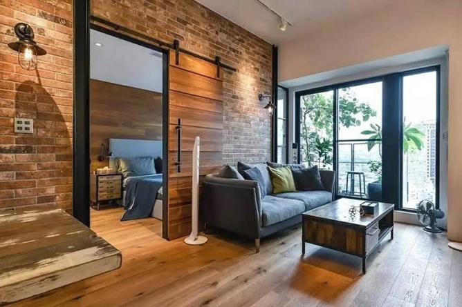 LOFT小户型工业风粗犷木质公寓,上海室内设计,工业风格室内设计,小户型LOFT室内设计,LOFT室内设计,小户型室内设计,工业风格设计,粗犷公寓设计,工业风格公寓设计,Industrial style apartment-2
