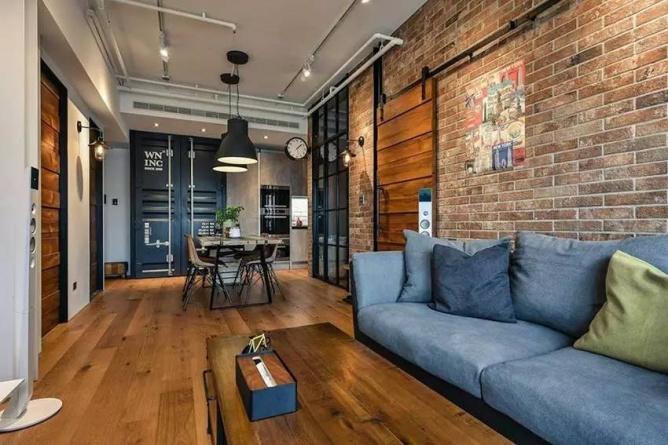 LOFT小户型工业风粗犷木质公寓,上海室内设计,工业风格室内设计,小户型LOFT室内设计,LOFT室内设计,小户型室内设计,工业风格设计,粗犷公寓设计,工业风格公寓设计,Industrial style apartment-3