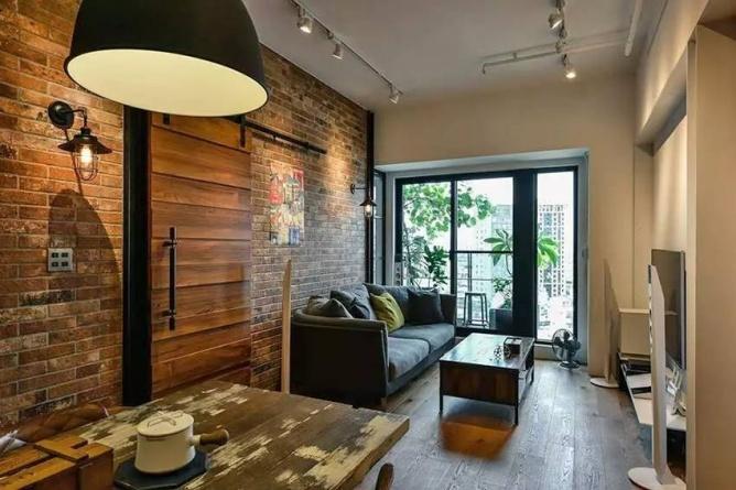 LOFT小户型工业风粗犷木质公寓,上海室内设计,工业风格室内设计,小户型LOFT室内设计,LOFT室内设计,小户型室内设计,工业风格设计,粗犷公寓设计,工业风格公寓设计,Industrial style apartment-4