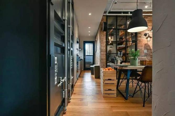 LOFT小户型工业风粗犷木质公寓,上海室内设计,工业风格室内设计,小户型LOFT室内设计,LOFT室内设计,小户型室内设计,工业风格设计,粗犷公寓设计,工业风格公寓设计,Industrial style apartment-5
