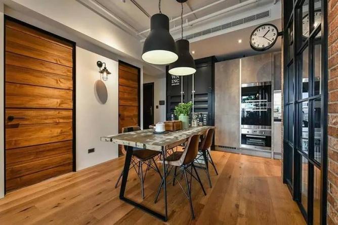 LOFT小户型工业风粗犷木质公寓,上海室内设计,工业风格室内设计,小户型LOFT室内设计,LOFT室内设计,小户型室内设计,工业风格设计,粗犷公寓设计,工业风格公寓设计,Industrial style apartment-6
