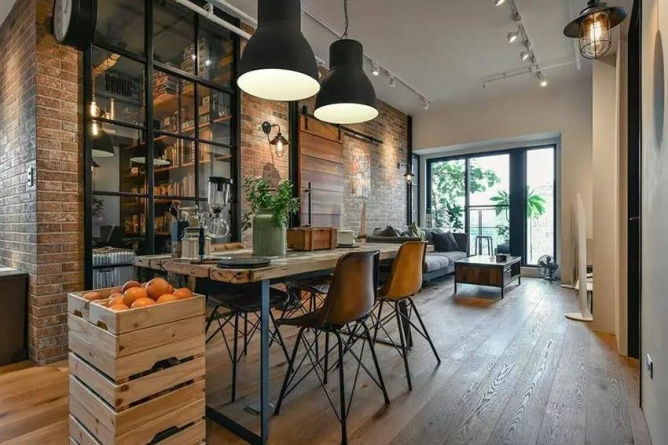 LOFT小户型工业风粗犷木质公寓,上海室内设计,工业风格室内设计,小户型LOFT室内设计,LOFT室内设计,小户型室内设计,工业风格设计,粗犷公寓设计,工业风格公寓设计